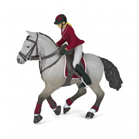 Papo 51563 Competition horse with riding girl