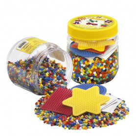 Hama beads 4.000 beads and pegboard tub yellow
