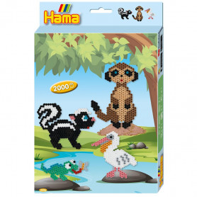 Hama beads Animals 2000st.