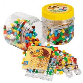 Hama Maxi beads and pegboards in tub (yellow)