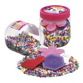 Hama beads 4.000 beads and pegboard tub pink