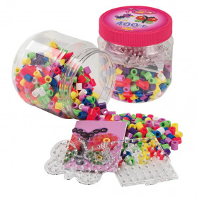 Hama Maxi beads and pegboards in tub (Pink)