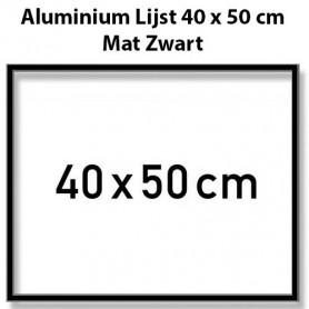 Zilverkleurige Aluminium Lijst 40 x 50 cm
