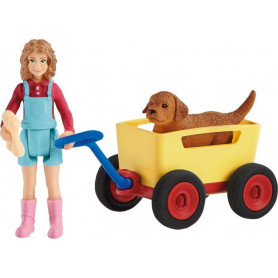 Schleich 42543 Puppy Wagon Ride