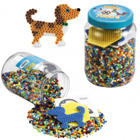 Hama 2021 Tub 7000 Beads and Pegboards, blue