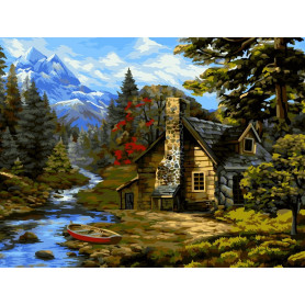 Forest Hut - Paint by Numbers - 40 x 50 cm