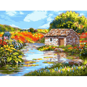 Picturesque River - Paint by Numbers - 40 x 50 cm