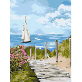 Road to the Sea - Paint by Numbers - 40 x 50 cm