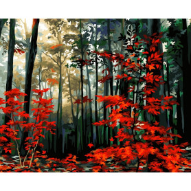 Morning in the Autumn Forest - Paint by Numbers - 40 x 50 cm