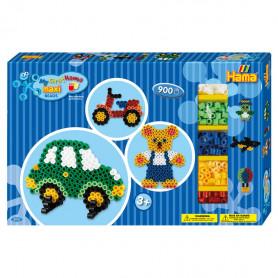 Hama Maxi strijkkralen giftbox 900 stuks - Voertuigen