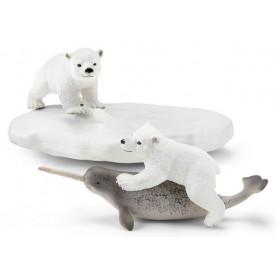 Schleich 42531 Eisbären-Rutschpartie mit Narwal