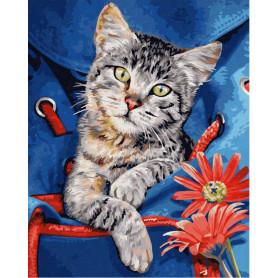 Cat in a backpack - Schipper 24 x 30 cm