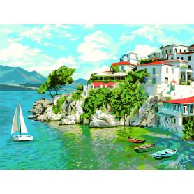 Skiathos - Paint by Numbers - 40 x 50 cm
