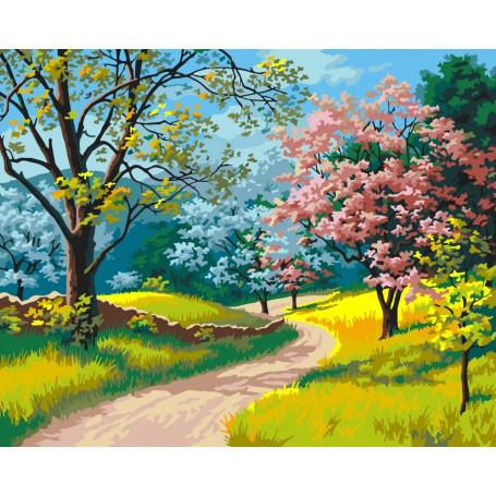 Blooming Spring - Schilderen op nummer - 40 x 50 cm