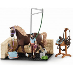Schleich 42438 Paarden Wasbox met Emily & Luna