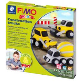 Fimo Kids startset Bouw Voertuigen