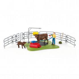 Schleich 42529 Kuh Waschstation