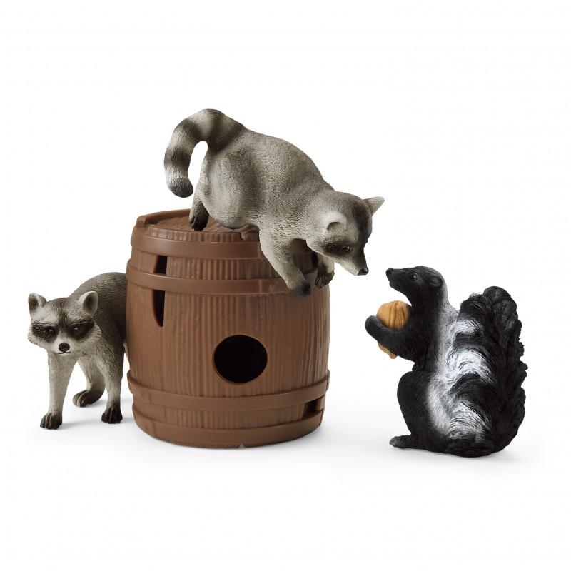 Schleich 42532 Nootachtige kattenkwaad (Wasberen & Stinkdieren set)