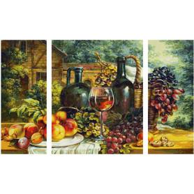 Stillleben mit Weintrauben - Schipper Triptychon 50 x 80 cm