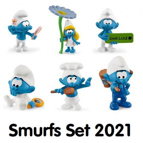 Schleich Smurfen set 2021 (6 stuks)