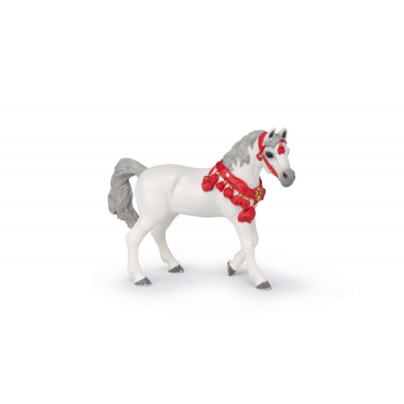 Papo 51568 Wit Arabisch paard in parade kleding