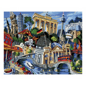 A visit to Berlin - based on Miguel Freitas - Schipper 40 x 50 cm