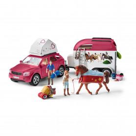 Schleich 42535 Abenteuer mit Auto und Pferdeanhänger