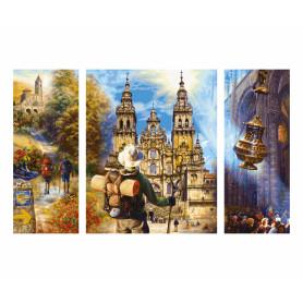 The Way of St. James - Schipper Triptych 50 x 80 cm