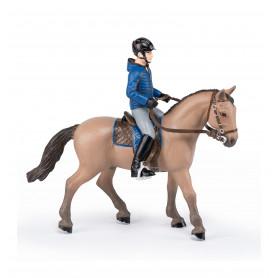 Papo 51565 Cheval de promenade et son cavalier
