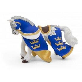 Papo 39952 Cheval du roi Arthur bleu