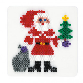 Grondplaat Hama Kerstman