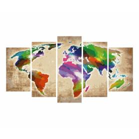 Colorful World - Schipper Polyptych 72 x 132 cm