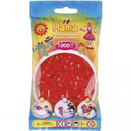 Hama strijkkralen 13 Rood Doorzichtig