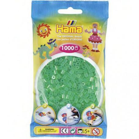 Hama strijkkralen 16 Groen Doorzichtig