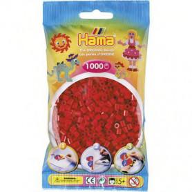 Hama strijkkralen 22 Donkerrood