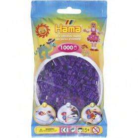 Hama strijkkralen 24 paars doorzichtig