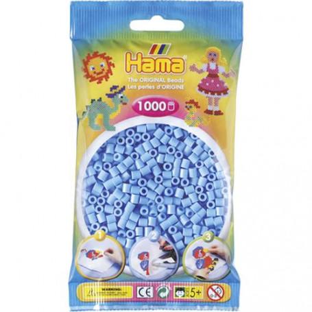Hama strijkkralen 46 Blauw pastel