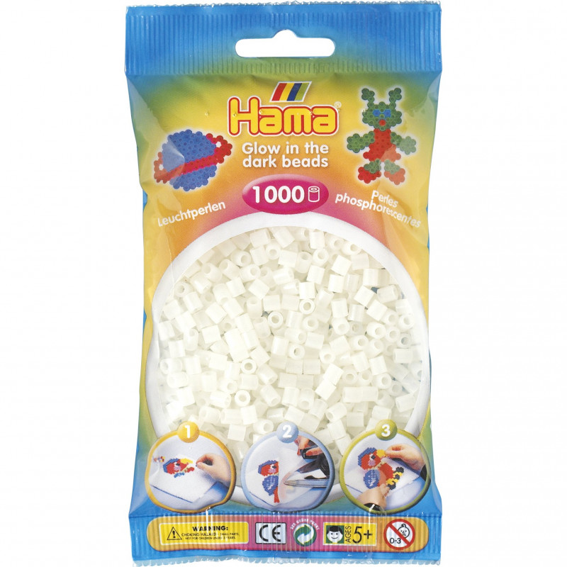 Hama strijkkralen 55 Glow in the dark