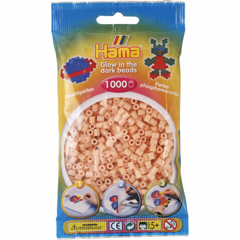Hama strijkkralen 56 Glow in the dark roze
