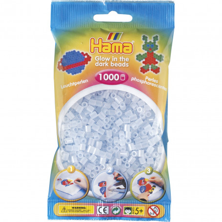 Hama strijkkralen 57 Glow in the dark blauw