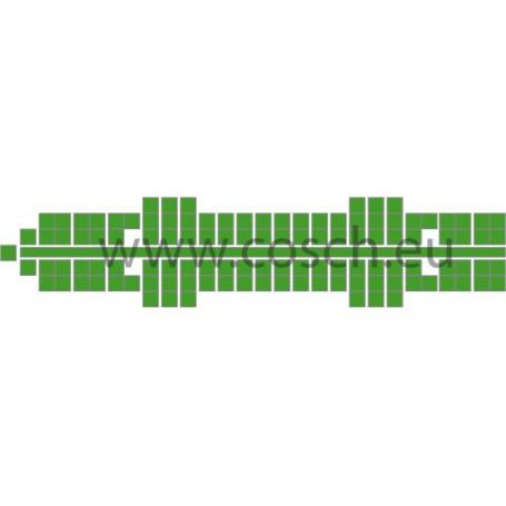 Stickit kleur 21 midden groen, 5 stuks