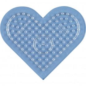 Grondplaat Hama hart kl. transparant