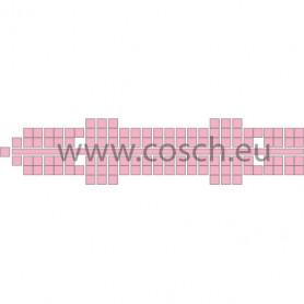 Stickit kleur 15 roze, 10st.