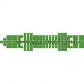 Stickit kleur 21 midden groen, 10st.