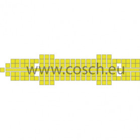Stickit kleur 08 geel, 1st.
