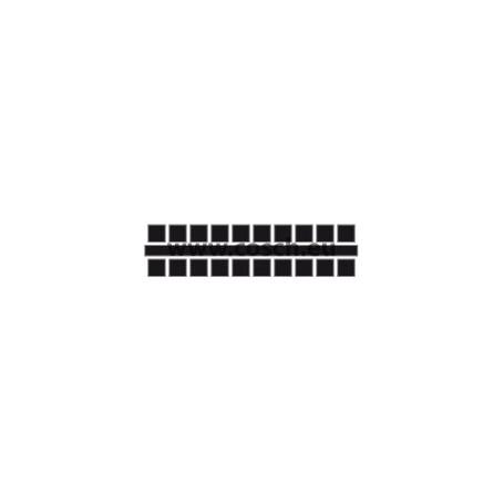 Ministeck kleur 01 zwart 1st. puntjes