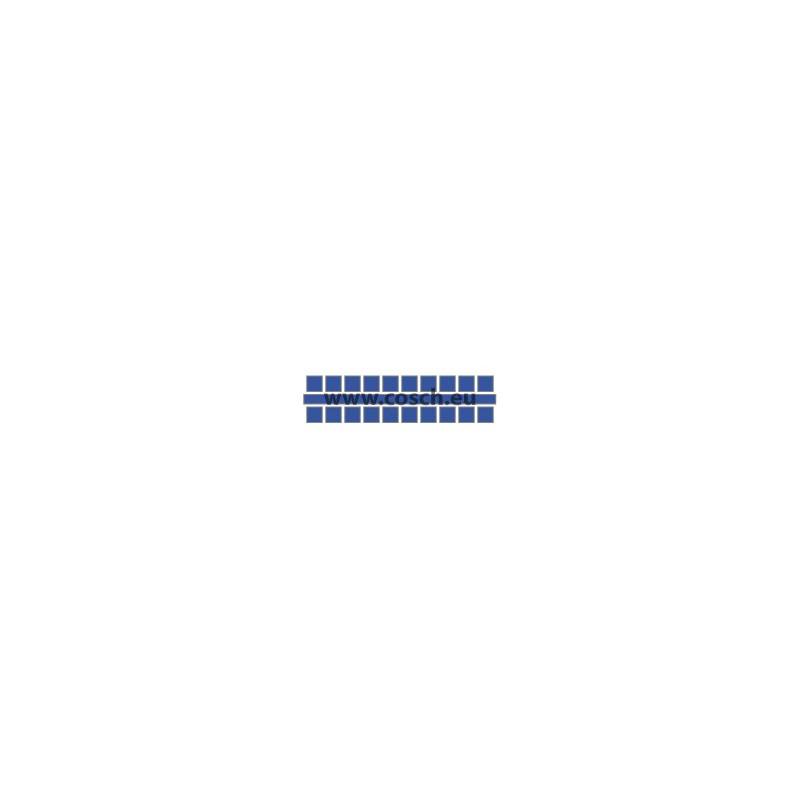 Ministeck kleur 02 donkerblauw, 1st. puntjes