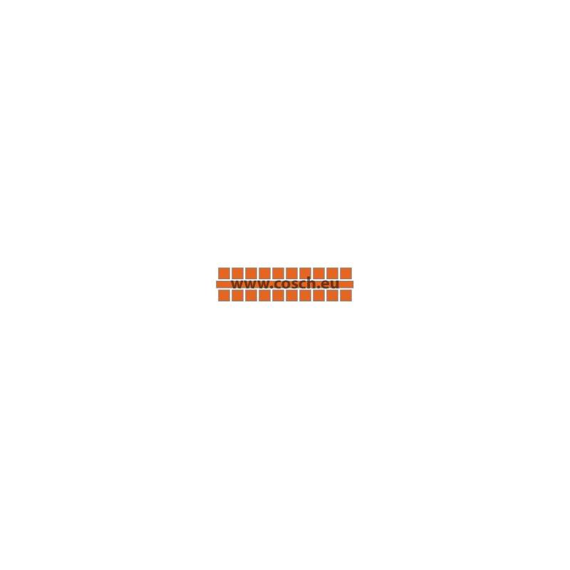 Kleur 07 oranje, 1st. puntjes