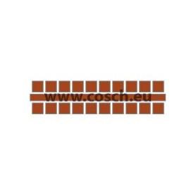 Ministeck kleur 11 midden bruin, 1st. puntjes