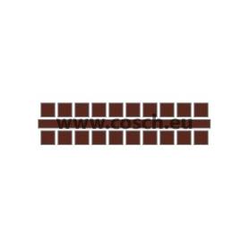 Kleur 12 donker bruin, 1st. puntjes